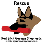 Red Stick German Shepherd Rescue Logo